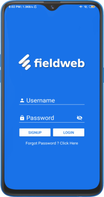 Fieldweb app screenshot